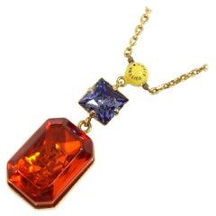 Pandantif  cosmopolitan  multi color stone GP  necklace M66346