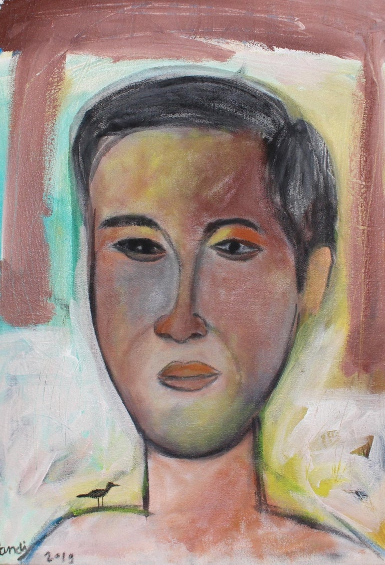 Pandi Portrait Painting - Portrait of a Young Man