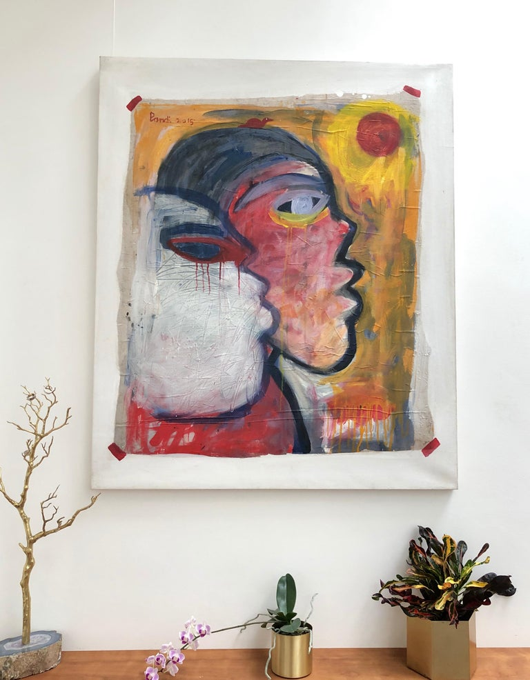 The Sun-Worshippers - Contemporary Painting by Pandi