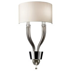 Pandora 5675 02 Wall Sconce in Glass with Black Shade, by Barovier&Toso