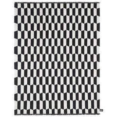 Pane Black and White Pattern Rug by CC-Tapis