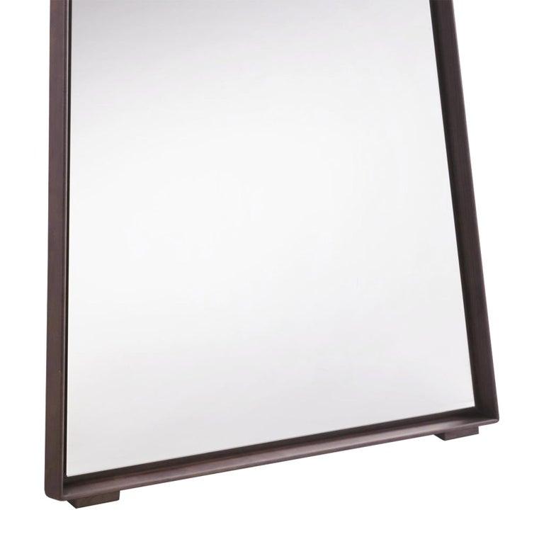 Italian Panel Large Ash Mirror For Sale