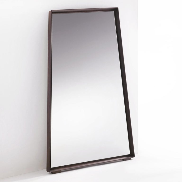 Hand-Crafted Panel Large Ash Mirror For Sale