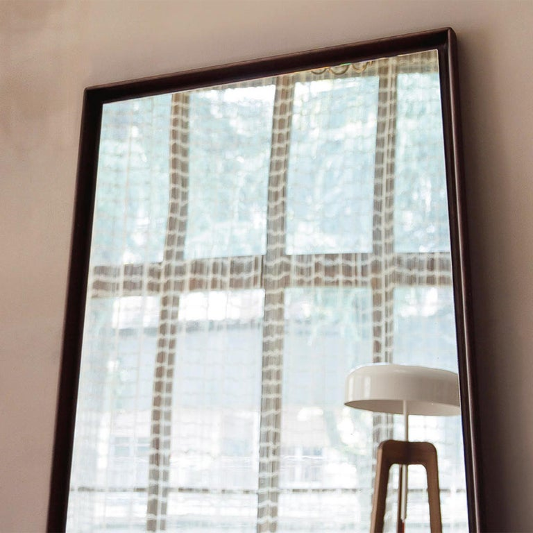 Panel Large Ash Mirror In New Condition For Sale In Paris, FR