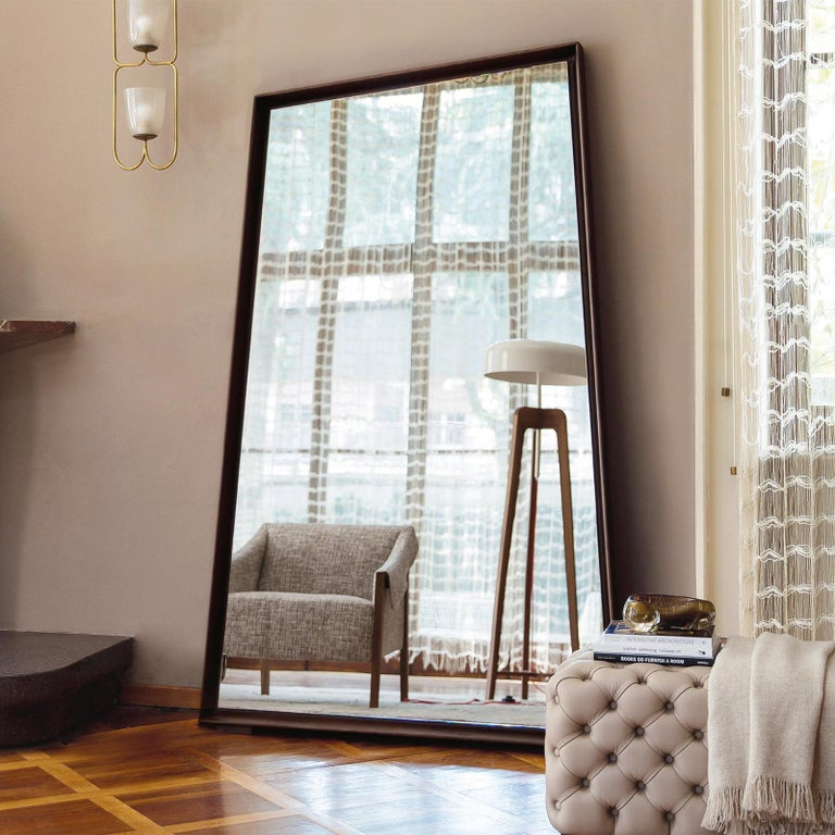 Contemporary Panel Large Ash Mirror For Sale