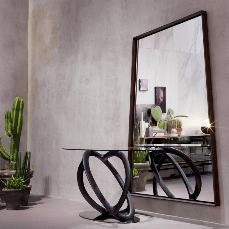 Glass Panel Large Ash Mirror For Sale