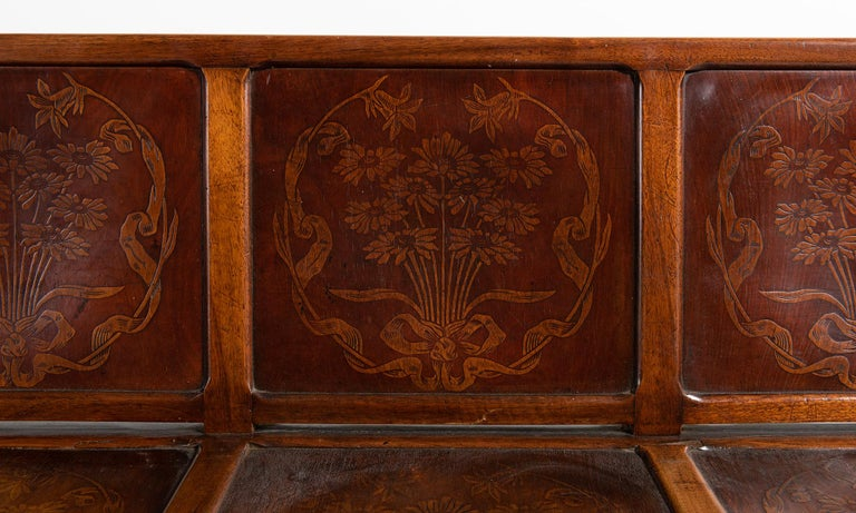 Decorative Paneled Hallway Bench  In Good Condition For Sale In Culver City, CA