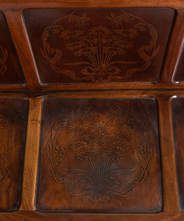 20th Century Decorative Paneled Hallway Bench  For Sale