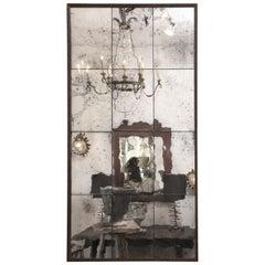 Paneled Steel Framed Mirror