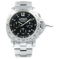 Panerai Daylight Black Dial Steel Automatic Men's Luminescent 2006 Watch