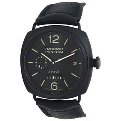 Panerai Historic Radiomir 8 Days Black Ceramic Manual Men's Watch PAM00384
