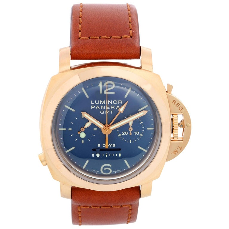 Panerai Luminor 1950 8 Day 18k Rose Gold Men's Chronograph Men's Watch PAM 277 ( For Sale