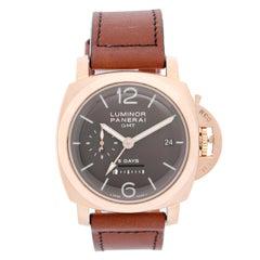 Panerai Luminor 1950 8 Days GMT Men's 18 Karat Rose Gold Watch PAM 289