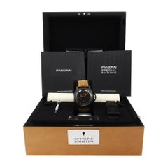 Panerai Luminor 1950 PAM00375, Brown Dial, Certified and Warranty