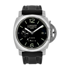 Panerai Luminor 1950 Polished Steel GMT 8-Day Power Reserve Watch PAM00233