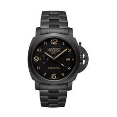 Panerai Luminor 1950 Tuttonero GMT Black Dial Men's Watch Item No. PAM00438