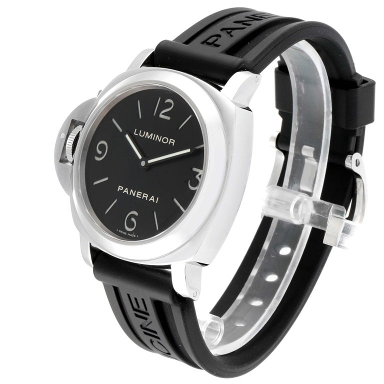Panerai Luminor Base Left Handed Watch PAM219 PAM00219 In Excellent Condition For Sale In Atlanta, GA