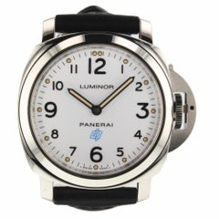 Panerai Luminor Base Logo Acciaio Steel White Watch pam00630 pam 630