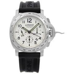 Panerai Luminor Daylight Chrono Steel White Dial Automatic Men's Watch PAM00188