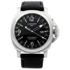 Panerai Luminor GMT Stainless Steel Black Dial Automatic Men's Watch PAM00063