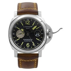 Panerai Luminor GMT Stainless Steel Black Dial Automatic Men's Watch PAM01088