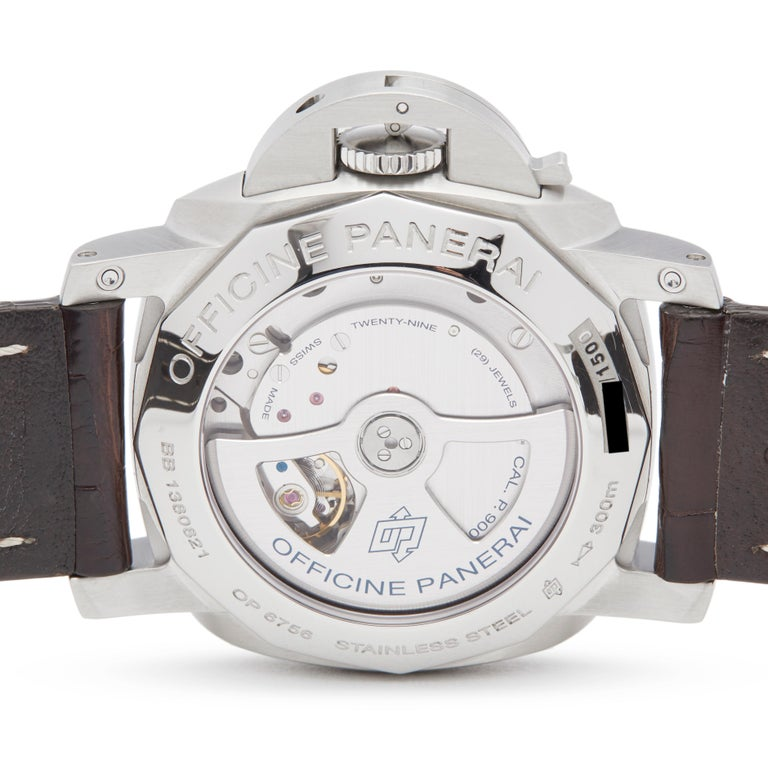 Panerai Luminor Gmt Stainless Steel PAM00321 For Sale 2