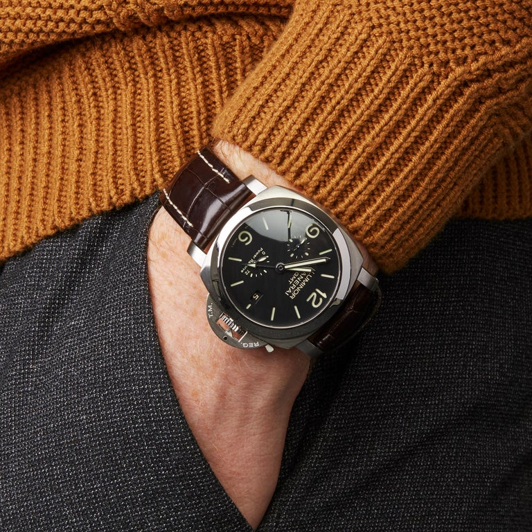 Panerai Luminor Gmt Stainless Steel PAM00321 For Sale 5