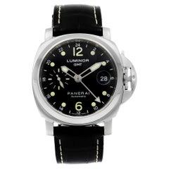 Panerai Luminor GMT Steel Black Dial Automatic Men's Watch PAM00159