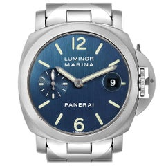 Panerai Luminor Marina Blue Dial Men's Watch PAM00120 Box Papers