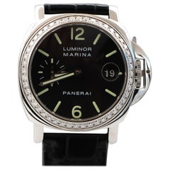 Panerai Luminor Marina Limited Edition Watch with Diamonds Stainless Steel