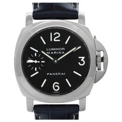 Panerai Luminor Marina PAM00001, Black Dial, Certified and Warranty