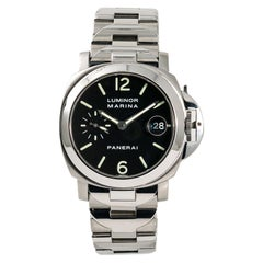 Panerai Luminor Marina PAM00050 Men's Automatic Watch Stainless Black Dial