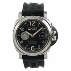 Panerai Luminor Marina PAM00086 Men's Automatic Watch Black Dial SS