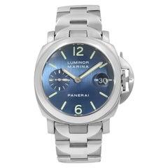 Panerai Luminor Marina Satin Blue Dial Steel Automatic Men's Watch PAM00120