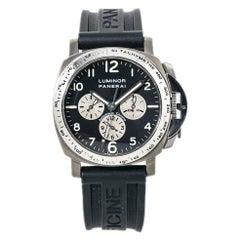 Panerai Luminor PAM00052 Chronograph Zenith Movement Titanium Automatic Watch