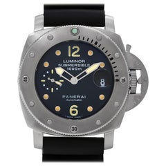 Panerai Luminor Submersible PAM00243, Black Dial, Certified &
