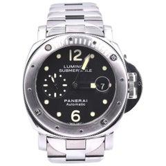 Panerai Luminor Submersible Stainless Steel Watch Ref. PAM24