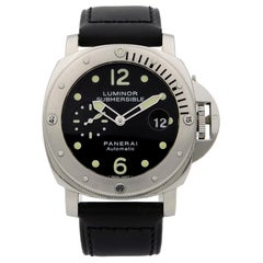 Panerai Luminor Submersible Steel Black Dial Automatic Men's Watch PAM00024