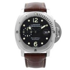 Panerai Luminor Submersible Steel Black Dial Automatic Men's Watch PAM00024