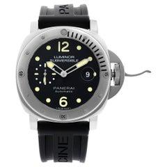 Panerai Luminor Submersible Steel Black Dial Automatic Men's Watch PAM01024