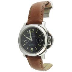 Panerai Men's Automatic Watch OP 6693 PAM 104 Black Dial Luminor Marina