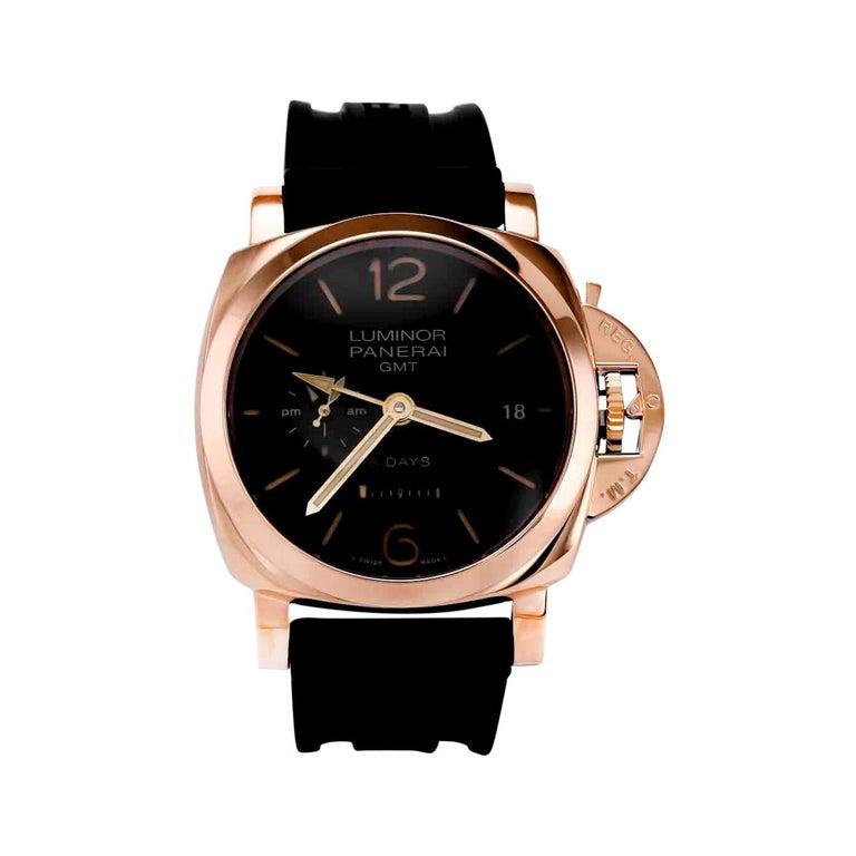 Panerai Men's Luminor GMT Rose Gold 'PAM00576' For Sale