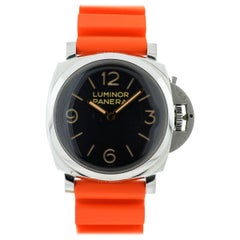 Panerai PAM 372 Luminor Stainless Steel Automatic Rubber Strap Watch