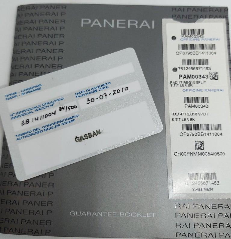 Panerai Pam 384, Radiomir Regatta Limited Titanium Classic Yachts Challenge 2010 For Sale 10