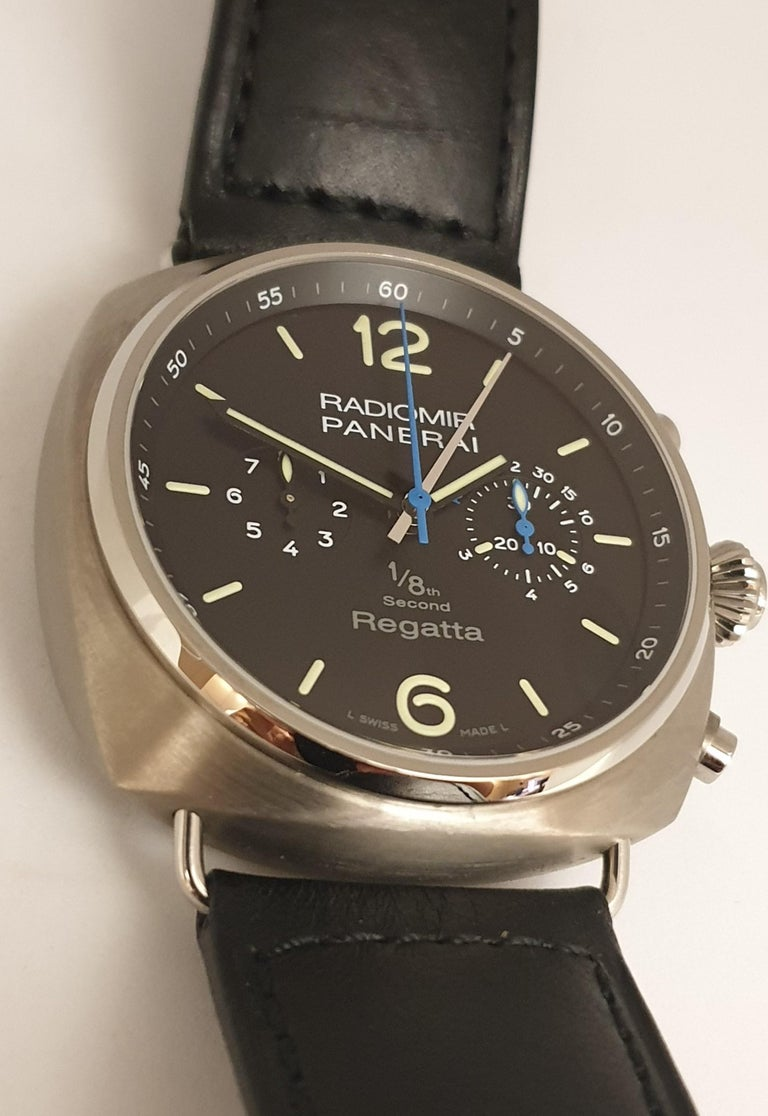 Panerai Pam 384, Radiomir Regatta Limited Titanium Classic Yachts Challenge 2010 In New Condition For Sale In Antwerp, BE