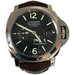 Panerai PAM90 Luminor Black Dial Power Reserve Watch