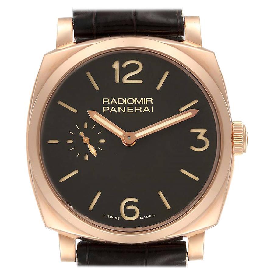 Panerai Radiomir 1940 Rose Gold Men's Watch PAM00513 Box Papers