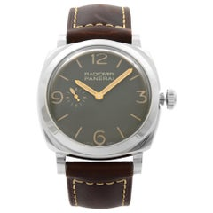 Panerai Radiomir 1940 Steel Leather Green Dial Automatic Men's Watch PAM00995