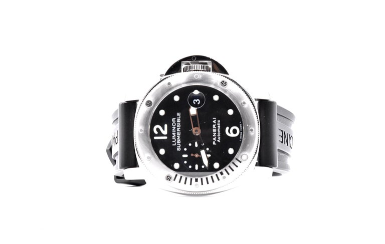 Panerai Stainless Steel Luminor Submersible PAM 24 In Excellent Condition For Sale In Scottsdale, AZ