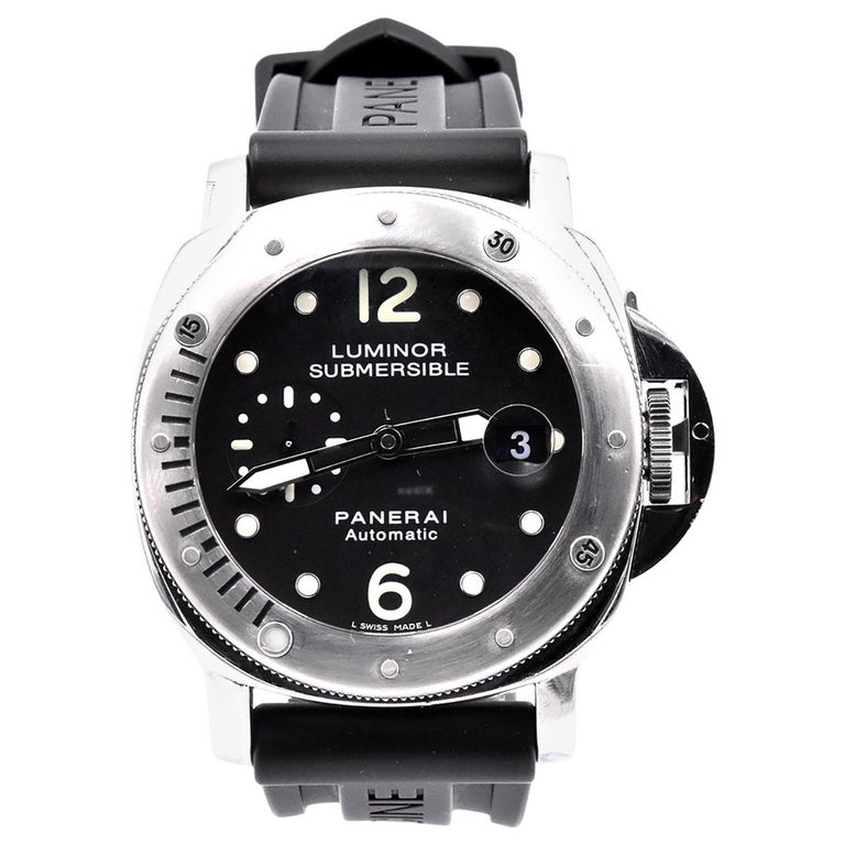 Panerai Stainless Steel Luminor Submersible PAM 24 For Sale